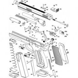 Magazine plastic base pad