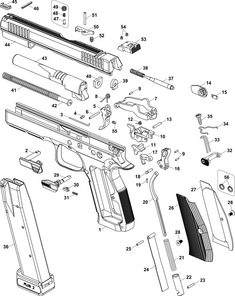 MAIN SPRING STRUT CZ 75/85/97 - Seboweapons com - prodej zbraní a střeliva